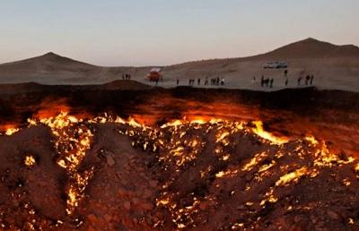 Porte de l'Enfer à Darvaza (Turkmenistan)