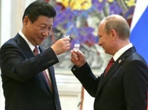 Xi et Poutine portent un toast à leur accord de développement économique