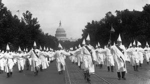 Ku Klux Klan à Washington DC, milieu des années 1920.