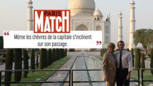 Réalisé sans trucage (la citation de Paris Match fait référence à Brigitte Macron).