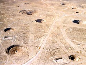 Cratères de subsidence <br>(centre de tests du Nevada, USA)