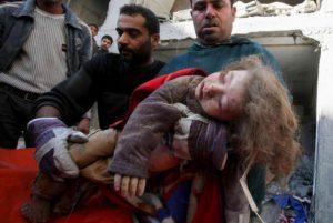 Dans sa campagne de bombardements en décembre 2008 et janvier 2009, Israël a massacré plus de 500 enfants dans la bande de Gaza - Photo : Archives
