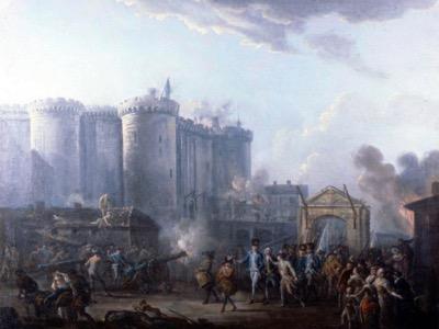 La Révolution française n'a pas été déclenchée par un abus royal. Les Français ne pensaient pas renverser la monarchie. Ce sont les Parisiens, convaincus que la capitale serait attaquée par des armées étrangères et que le roi ne la défendrait pas, qui s'emparèrent des armes qui étaient stockées à la prison de la Bastille.